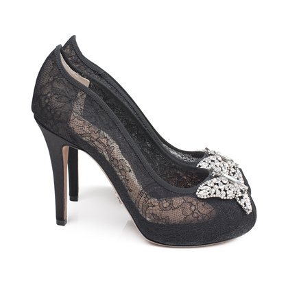 Farfalla Black Lace Open Toe