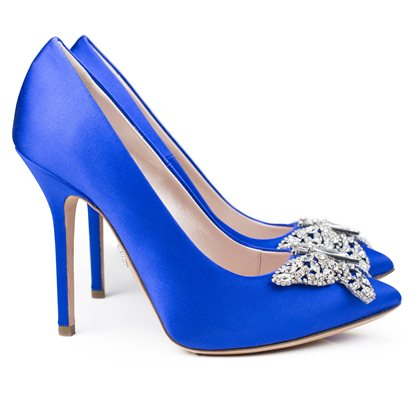 Farfalla Royal Blue Satin Pointy