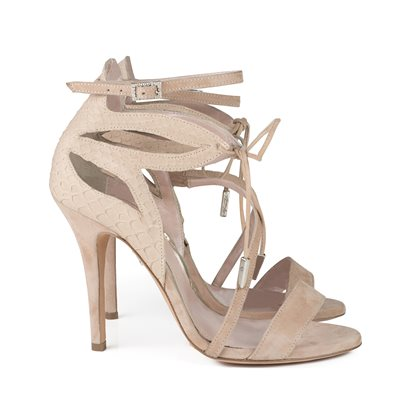 Aperto Nude Suede and Python