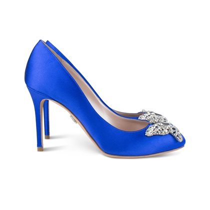 Farfalla Round Toe Royal Blue Satin