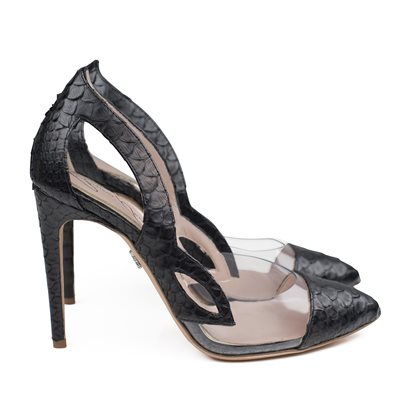 Farfalla Black Python and PVC Mezza