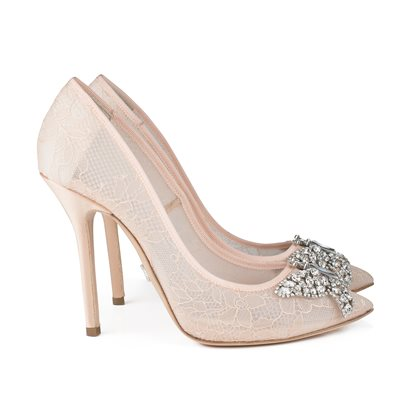 Farfalla Blush Lace Pointy